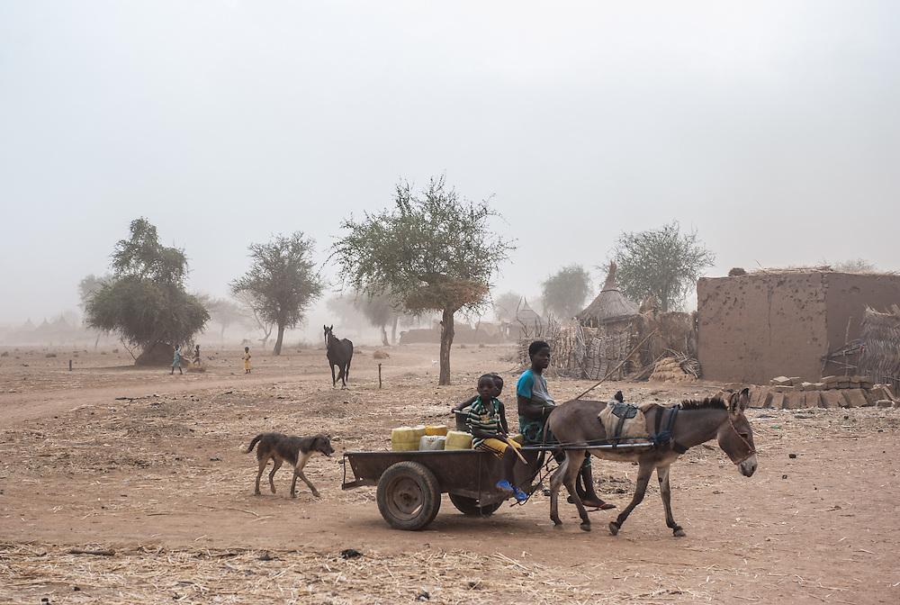 Sandstorm in the Sahel region in Burkina Faso