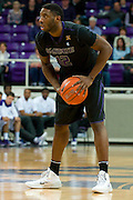 FORT WORTH, TX - JANUARY 7: Omari Lawrence #12 of the Kansas State Wildcats brings the ball up court against the TCU Horned Frogs on January 7, 2014 at Daniel-Meyer Coliseum in Fort Worth, Texas.  (Photo by Cooper Neill/Getty Images) *** Local Caption *** Omari Lawrence