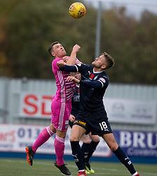 Ayr United's Craig Moore and Falkirk's Patrick Brough. half time : Falkirk 0 v 0 Ayr United, Scottish Championship game played 3/11/2018 at The Falkirk Stadium.