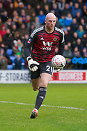 Wolverhampton Wanderers goalkeeper John Ruddy (21) during the The FA Cup fourth round match between Shrewsbury Town and Wolverhampton Wanderers at Greenhous Meadow, Shrewsbury, England on 26 January 2019.
