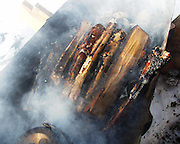 margbein. The sami people of the nordic countries have long traditions for using every part of the reindeer for food and products. Grilling marrowbones from reindeer in the fire.
