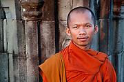 Buddhist Monk, Phnom Bakeng, Angkor Wat, Siem Reap, Cambodia
