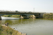 Israel, Hasharon district, A highway bridge over the Alexander, river