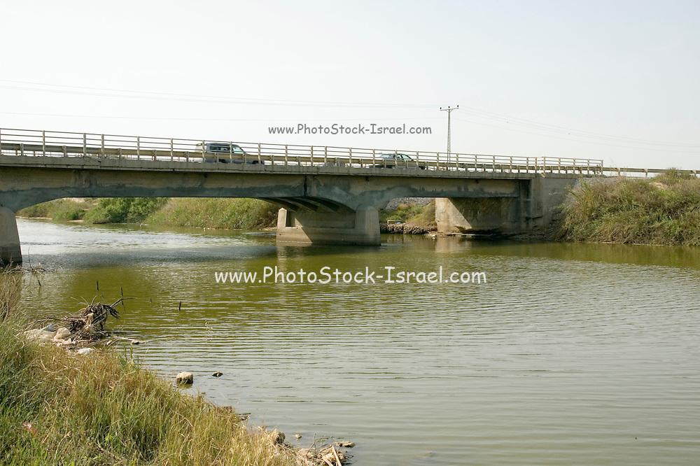 Israel, Hasharon district, A highway bridge over the Alexander, river