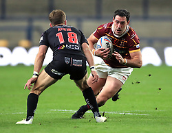 File photo dated 8-10-2020 of Salford Red Devils' Chris Atkin (left) and Huddersfield Giants' Joe Wardle. Relegated Leigh announce Joe Wardle as their first signing for 2022 campaign. Issue date: Thursday October 14, 2021.