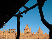The Great Mosque of Djenné, the worlds largest mud built structure and UNESCO heritage site, at Djenné, Mali