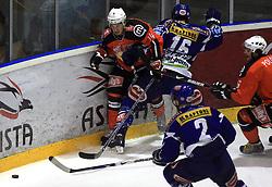 Boris Pretnar (14) at ice hockey match Acroni Jesencie vs EC Pasut VSV. in EBEL League,  on November 23, 2008 in Arena Podmezaklja, Jesenice, Slovenia. (Photo by Vid Ponikvar / Sportida)