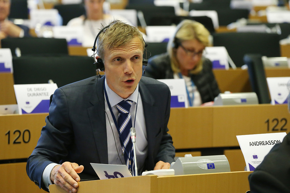 11 May 2017, 123rd Plenary Session of the European Committee of the Regions <br /> Belgium - Brussels - May 2017 <br /> <br /> Mr ANDREASSON Martin, Member of Västra Götaland Regional Council, Sweden<br /> <br /> © European Union / Patrick Mascart