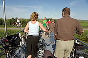family on there bicycle on a nice sunny Sunday Holland