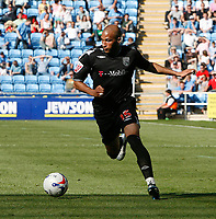 Photo: Steve Bond.<br />Coventry City v West Bromwich Albion. Coca Cola Championship. 28/04/2007. Diomansy Kamera attacks