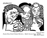 Night of the Hunter : Preacher Harry Powell - Robert Mitchum; Rachel - Lillian Gish; A Doll; John - Billy Chapin