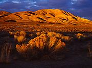 Sunset illuminating the Monitor Range in Central Nevada.
