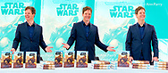 Merrick, New York, U.S. December 20, 2019. [photo composite] KEVIN SHINICK discusses his novel during book signing for STAR WARS: FORCE COLLECTOR at North Merrick Library on Nassau County Force Collector Day. Author Shinick named home planet of Karr Nuq Sin, the main character of this canon Star Wars young adult novel, MEROKIA in honor of Merokee tribe who settled his Merrick hometown on Long Island.