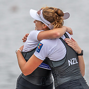 Kerri Gowler & Grace Prendergast , New Zealand elite Womens Coxless Pair<br /> <br /> Compete in the A Finals at FISA World Rowing Cup III on Sunday 14 July 2019 at the Willem Alexander Baan,  Zevenhuizen, Rotterdam, Netherlands. © Copyright photo Steve McArthur / www.photosport.nz