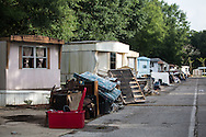 Baker Louisiana, a mobile home park damaged by the 1000 year flood.