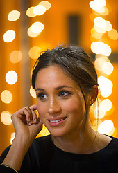 Meghan Markle during a visit to youth-orientated radio station, Reprezent FM, in Brixton, south London to learn about its work supporting young people.