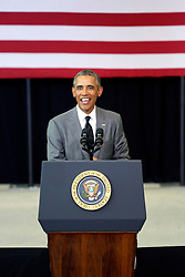 27 August 2015. Andrew P. Sanchez & Copelin-Byrd Multi Service Center, Lower 9th Ward, New Orleans, Louisiana.<br /> President Barack Obama addresses the crowd. <br /> Photo credit©; Charlie Varley/varleypix.com.