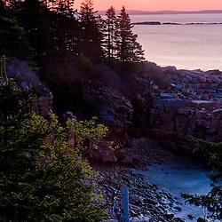 Dawn on the coast of Maine's Acadia National Park.