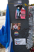 Photos and tributes are left at a makeshift memorial around the Pulse Nightclub December 18, 2016 in Orlando, Florida. On June 12, 2016 49 people were killed and 53 injured in the deadliest mass shooting by a single gunman in U.S. history, and the deadliest terrorist attack on U.S. soil since the events of September 11, 2001.