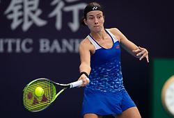 October 5, 2018 - Anastasija Sevastova of Latvia in action during her quarter-final match at the 2018 China Open WTA Premier Mandatory tennis tournament (Credit Image: © AFP7 via ZUMA Wire)