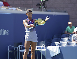 September 4, 2017 - New York, New York, United States - Whitney Osuigwe of USA reacts during match against Margaryta Blokin of Ukraine at US Open juniors  Championships at Billie Jean King National Tennis Center  (Credit Image: © Lev Radin/Pacific Press via ZUMA Wire)