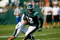 Philadelphia Eagles Tight End Eugene Bright #82 during the Philadelphia Eagles NFL training camp in Bethlehem, Pennsylvania at Lehigh University on Saturday August 8th 2009. (Photo by Brian Garfinkel)