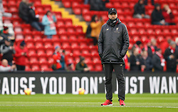 Liverpool manager Jurgen Klopp watches on before the Premier League match at Anfield, Liverpool.