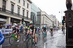 Kirsten Wild (NED) of Cylance Pro Cycling rides mid-pack in the fourth lap of the Prudential Ride London Classique - a 66 km road race, starting and finishing in London on July 29, 2017, in London, United Kingdom. (Photo by Balint Hamvas/Velofocus.com)