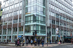 © Licensed to London News Pictures. 20/03/2018. London, UK. Exterior of Cambridge Analytica London headquarters in New Oxford Street. The firm was caught in an undercover sting boasting about entrapping politicians, using honey traps and running fake news campaigns. Photo credit: Ray Tang/LNP