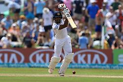 November 7, 2018 - Galle, Sri Lanka - Sri Lankan cricket captain Dinesh Chandimal plays a shot  during the 2nd day's play of the first test cricket match between Sri Lanka and England at Galle International cricket stadium, Galle, Sri Lanka, on 7 Novemeber 2018. (Credit Image: © Tharaka Basnayaka/NurPhoto via ZUMA Press)