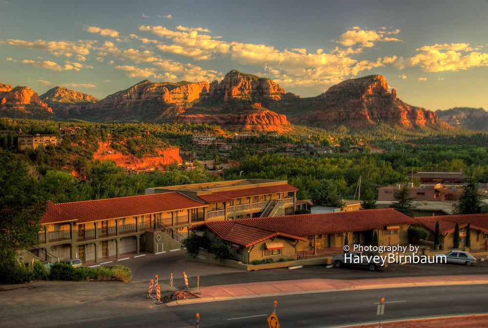 Sedona, USA, Arizona. Red mountain formations.