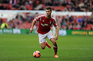 Eric Lichaj of Nottingham Forest in action .  FA Cup with Budweiser, 3rd round, Nottingham Forest v West Ham Utd match at the City Ground in Nottingham, England on Sunday 5th Jan 2014.<br /> pic by Andrew Orchard, Andrew Orchard sports photography.