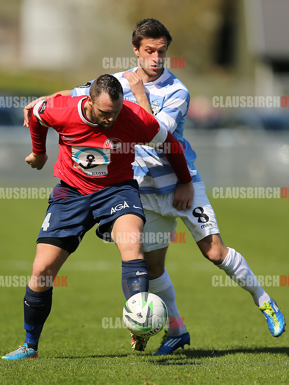 Peter Benjaminsen (FC Helsingør) og Christian Offenberg (SC Egedal).