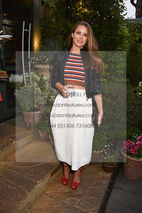 Lydia Chandris at The Ivy Chelsea Garden's Annual Summer Garden Party, The Ivy Chelsea Garden, 197 King's Road, London England. 9 May 2017.<br /> Photo by Dominic O'Neill/SilverHub 0203 174 1069 sales@silverhubmedia.com