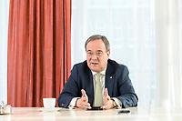27 NOV 2020, BERLIN/GERMANY:<br /> Armin Laschet, CDU, Ministerpraesident Nordrhein-Westfalen, waehrend einem Interview, Landesvertretung Nordrhein-Westfalen<br /> IMAGE: 20201127-01-020