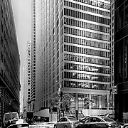 New York, U.S, N.Y.C: Exterior view of the 28 Liberty Building (Formerly one Chase Manhattan Plaza ), by Skidmore Owings Merrill Architects.Photographs by Alejandro Sala   Visit Shop Images to purchase and download a digital file and explore other Alejandro-Sala images…