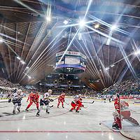 26.12.2018; Davos; EISHOCKEY SPENGLER CUP - HK Metallurg Magnitogorsk - HC Ocelari Trinec; Das Eishockey Fest in Davos hat begonnen. Stadion, Uebersicht (Andy Mueller/freshfocus)