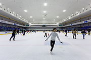Ice skaters at the Shin-Yokohama Skate Center, Shin Yokohama, Kanagawa, Japan. Saturday December 29th 2018. Due to the success in figure skating of many Japanese athletes, ice-skating has increased in popularity in the country of the last few years.