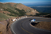 June 26-30 - Pikes Peak Colorado. Kenshiro Gushi works through sector 2 on the mountain during practice for the 91st running of the Pikes Peak Hill Climb.