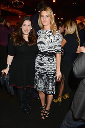 Left to right, Fashion designer MARY KATRANTZOU and LADY KINVARA BALFOUR at the Vogue Pop Up Club at Westfield London to celebrate Westfield London's 5th birthday on 30th October 2013.