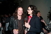GUS ROBERTSON; CHARLIE GILMOUR; , Party for Perfect Lives by Polly Sampson. The 20th Century Theatre. Westbourne Gro. London W11. 2 November 2010. -DO NOT ARCHIVE-© Copyright Photograph by Dafydd Jones. 248 Clapham Rd. London SW9 0PZ. Tel 0207 820 0771. www.dafjones.com.