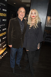 LEN BLAVATNIK and RITA ORA at the Al Films and Warner Music Screening of Kill Your Friends held at the Curzon Soho Cinema, 99 Shaftesbury Avenue, London on 27th October 2015.