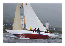 Day two of the Fife Regatta,Passage race to Rothesay.<br /> Mikado, Sir Micheal Briggs, GBR Burmudian Cutter, Wm Fife 3rd, 1904<br /> <br /> * The William Fife designed Yachts return to the birthplace of these historic yachts, the Scotland's pre-eminent yacht designer and builder for the 4th Fife Regatta on the Clyde 28th June–5th July 2013<br /> <br /> More information is available on the website: www.fiferegatta.com