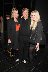 Left to right, THEO & LOUISE FENNELL and their daughter COCO FENNELL at the opening of the new Gaucho restaurant at the O2 Arena, London on 15th May 2008.<br />