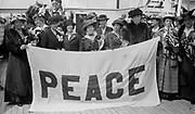 Peace Delegates on NOORDAM -- Suffragists  Mrs. P. Lawrence, Jane Addams, Anita Molloy