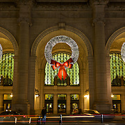 Decked for the holidays here, Union Station is the grand ceremonial train station that was designed to be the entrance to Washington, DC, when it opened in 1908. One of the busiest places in Washington, the terminal is served by Amtrak, MARC and VRE commuter railroads, and the Washington Metro transit system of buses and subway trains.