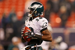 Philadelphia Eagles wide receiver Jeremy Maclin #18 warms up before the NFL game between the Philadelphia Eagles and the New York Giants on December 13th 2009. The Eagles won 45-38 at Giants Stadium in East Rutherford, New Jersey. (Photo By Brian Garfinkel)