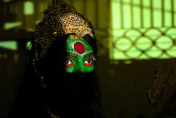 """A transgender in Chennai, India. <br /> As transgenders,""""hijras"""" in local terms, are acutely marginalized in Indian society, the major earning avenues for them are sex work, begging and performing at rituals."""