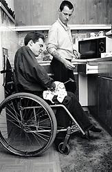 Carer & disabled man UK 1991