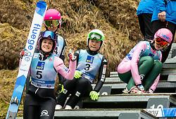 Barbora Blazkova of Czech Republic, Tara Geraghty-Moats of USA, Guylim Park of Korea, Zdenka Pesatova of Czech Republic during Day 3 of World Cup Ski Jumping Ladies Ljubno 2019, on February 10, 2019 in Ljubno ob Savinji, Slovenia. Photo by Matic Ritonja / Sportida